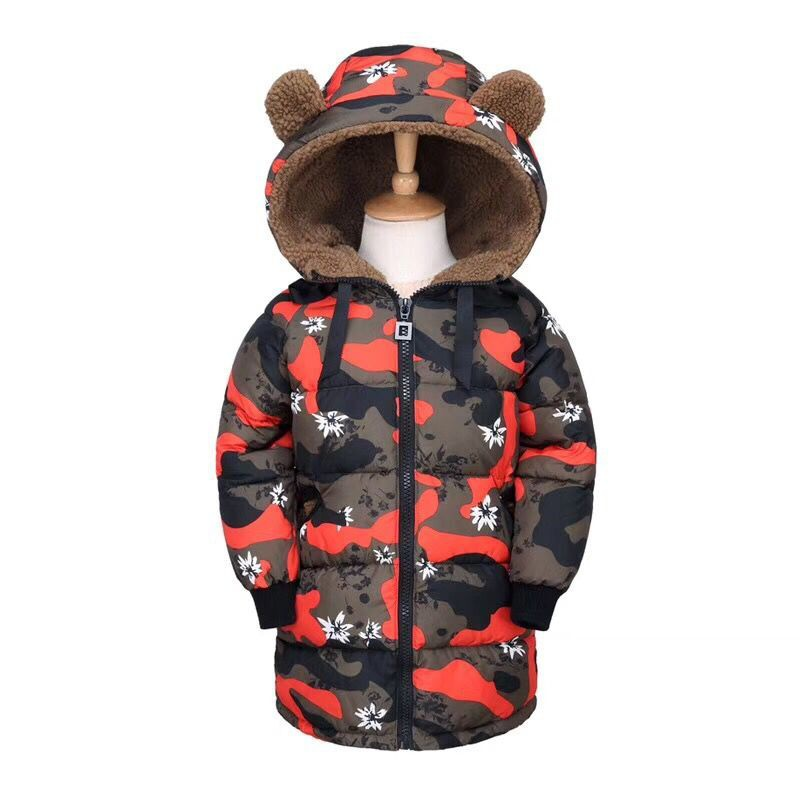 New Style Winter Baby Girl Camouflage Printed Jacket Warm Baby Girls Wind-proof Coat Outerwear Down Parkas Hooded 2015 new hot winter thicken warm woman down jacket coat parkas outerwear hooded splice mid long plus size 3xxxl luxury cold