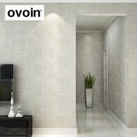 Modern Simple 3D Effect Texture Embossed Wallpaper Roll Plain Non Woven Stripes Floral Pattern Background Wall