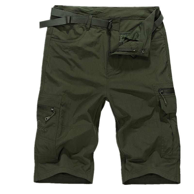 Army Green Loose Large Size Shorts Men Summer Casual Men's Shorts Homme Quick-drying Overall Trousers Breathable Beach Shorts