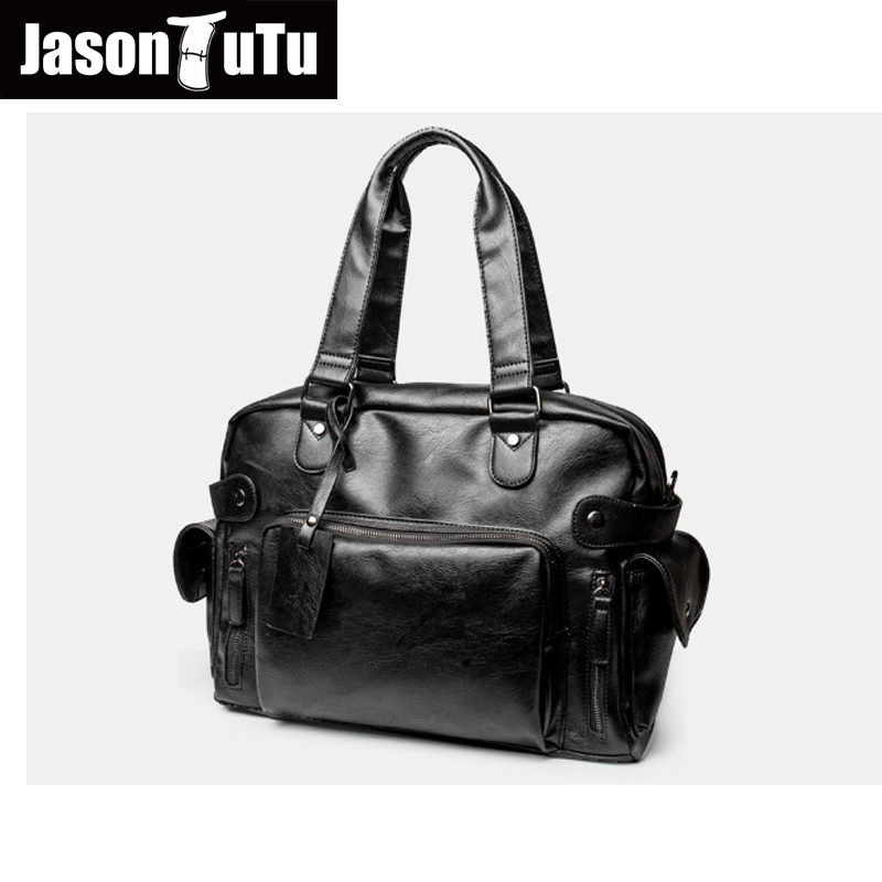 JASON TUTU men messenger bags high quality soft pu leather hand bags large capacity travel Men Bags bolsos Free shipping B182 free shipping high quality ink cartridge compatible for hp835 836 ip1188 large capacity