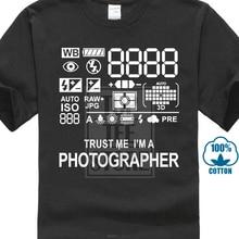 38a30de1 Summer Photographer Camera T Shirt Premium Cotton Photography Gift Present  Funny Cotton Short Sleeve Shirts Men