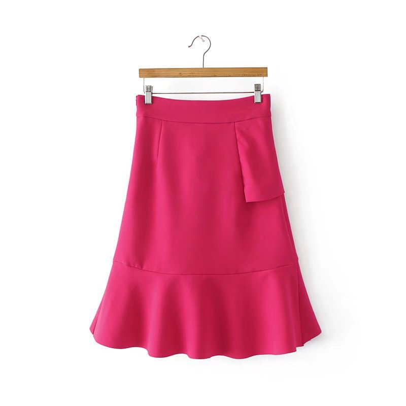 HTB1VevSQFXXXXXvXVXXq6xXFXXXU - FREE SHIPPING women summer ruffles skirt rose red irregular skirt JKP270