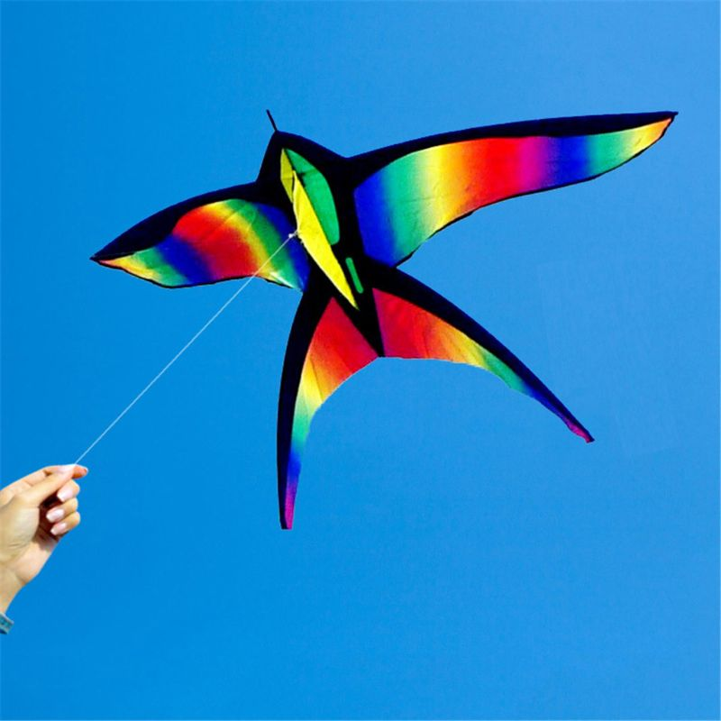 New Colorful Swallow Kite Rainbow Kite Color Bird Flying Kites Kids Toy Gift Outdoor Fun MAR-20
