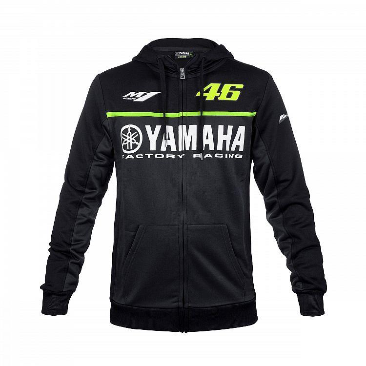 2017 Black Valen Rossi VR46 jacket For Yamaha M1 Racing men s Hoodie Adult Hoodie Sports