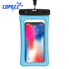 COPOZZ 6 Inch Float Airbag Waterproof Swimming Bag Mobile Phone Case Cover Dry Pouch Drifting Surfing Trekking Diving Bags
