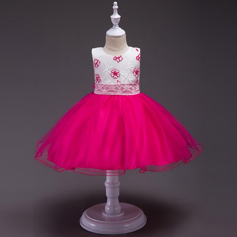 Girls Tutu Dress Summer Flower Girl Princess Dresses For Wedding Party Gown Party Dress Costume For Kids Girl Robe Fille Enfant