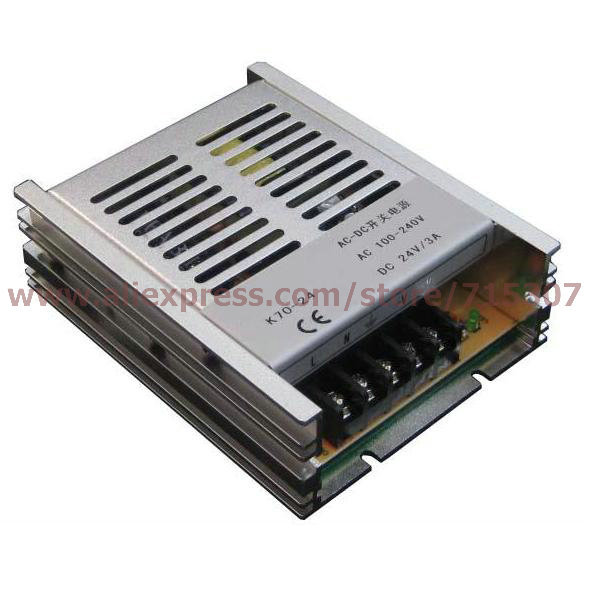 цена на Leetone K70-24 70W switching power supply 24V 3A high efficiency 100-240VAC input with OVP & OTP for 3 years warranty