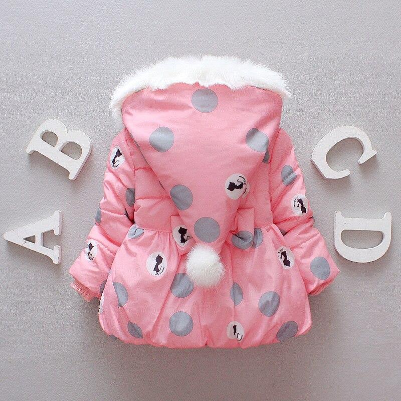 2017 New Children Girls Autumn Winter Jacket Kids Girl Hooded Winter Jacket Red Pink Grey Navy Polka Dot Print Coat куртка everlast hooded bubble navy купить