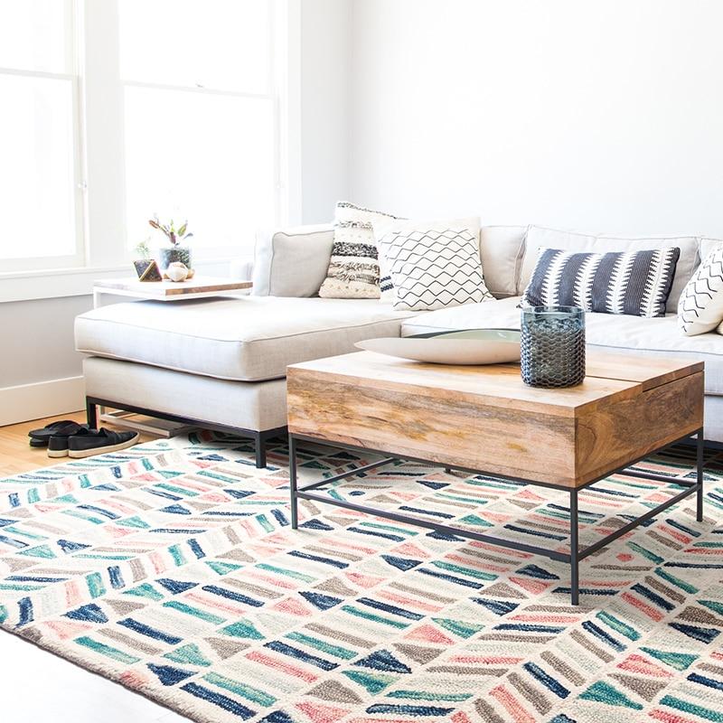 Индийский ковер килим шерсть новый список ручной сшитой рукодельной - 3