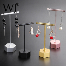New Creative Hanging Long Earrings Display Holder Pendant Necklace Jewelry Show Organizer Storage Rack Stand Metal Shelf Black