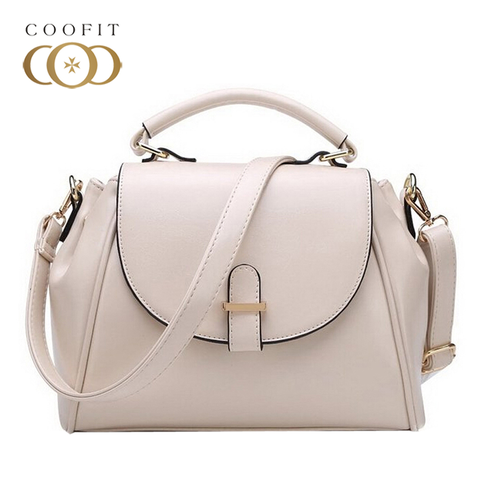 Coofit Womens The New Elegant PU Leather Shoulder Bag High Quality Portable Handbags Satchel Bags Day Pack For Office Ladies