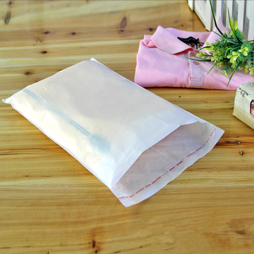 Wholesale Milky White OPP Plastic Organizer Bag Various Sizes Home Grocery Package Bag Store Poster Photo Storage Bag Dust Proof