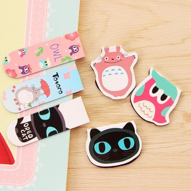 2pcs/pack Per Lot Cartoon Animal5 Series Magnetic Mini Bookmark Owl Page Table For Books Cute Gift Office School Supplies