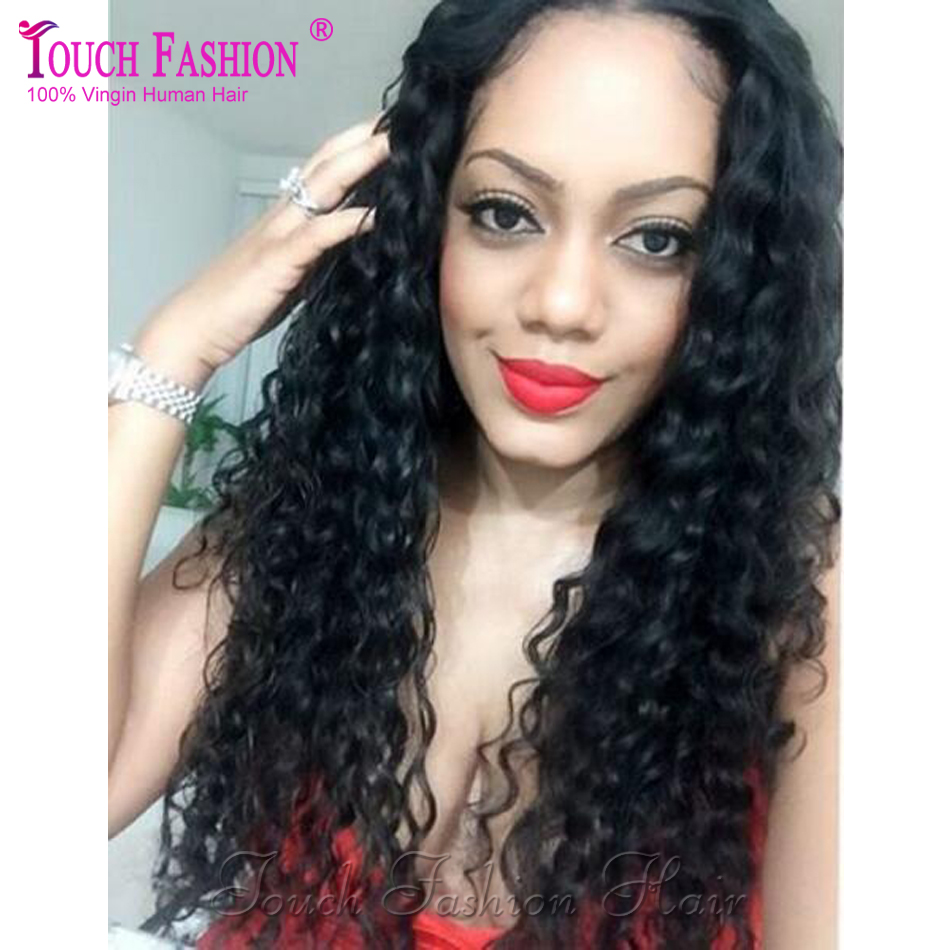 High Ponytail Full Lace Wigs Glueless Curly Full Lace Human Hair Wigs -4244