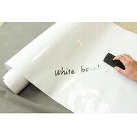 Самоклеющаяся белая доска сухое вытирание белая доска объявлений офисная Школа 60 ''x 100 футов (1,52*30 м)