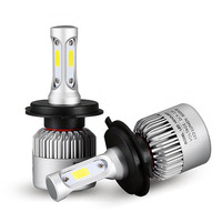 1 Pair H4 LED H7 H1 H11 9005 Hb3 9006 Hb4 COB S2 Auto Car Headlight