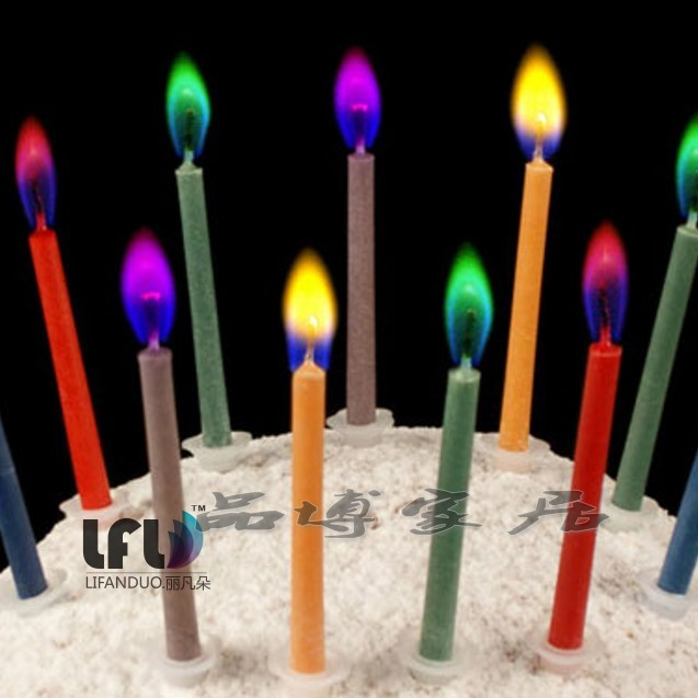 Special Offer The New Color Creative Gifts Wholesale Romantic Candle Flame Birthday Cake Candles