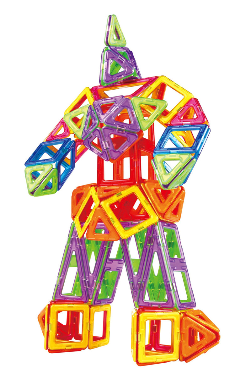 72Pcs Magnetic 3D DIY Educational Toys Magnetic Creator Model Building Blocks Bricks kids Toys Gifts