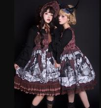 Japanese kawaii girl sweet lolita dress retro palace printing lace bowknot victorian dress gothic lolita jsk loli jsk cos the carousel sweet printed lolita casual jsk dress by alice girl