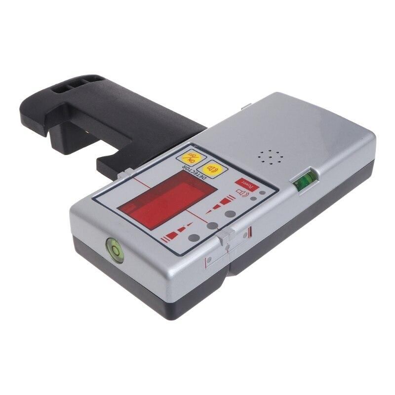 Nouveau détecteur de récepteur Laser à ligne transversale Compatible avec faisceau rouge 635nm avec pince