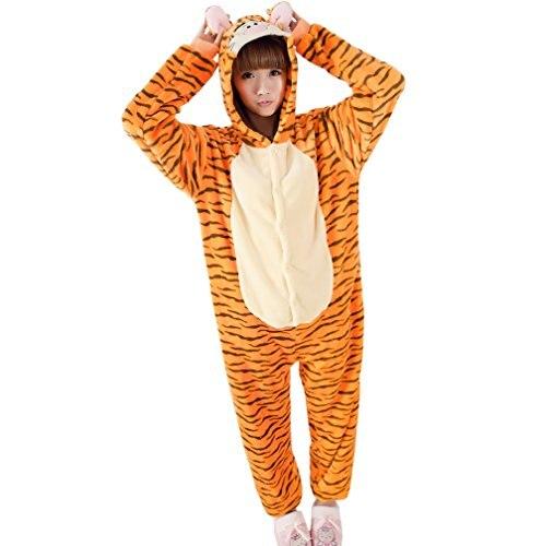 Anime Pijama Cartoon Unisex Adult Tigger Pajamas Cosplay Costume Animal Onesie Sleepwear Animal pajamas ...