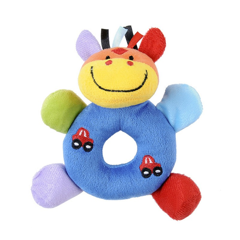 Baby Rattles Mobiles Cartoon Toys For Baby Animal Hand Bell Cute Dog Rattle 0-12 Months Toy Learning Education Resource