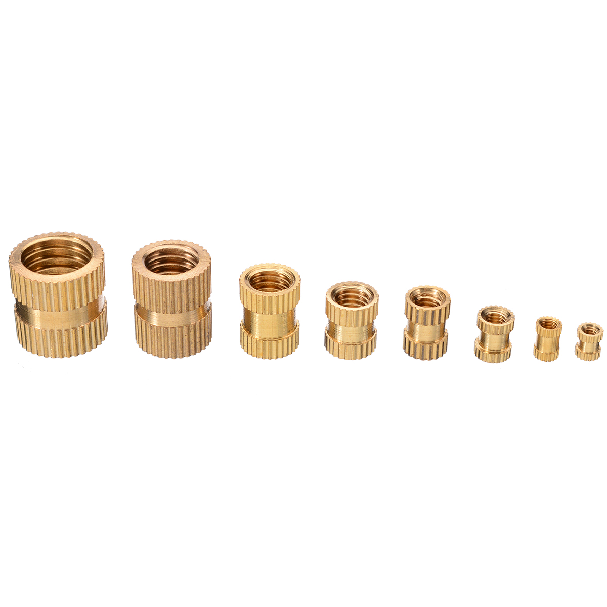 210Pcs//set Brass M2-M10 Assorted Cylinder Knurled Threaded Round Insert Embedded
