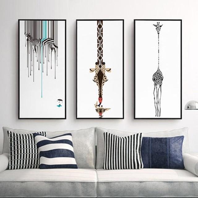 Bekend Drieluik Abstracte Decoratieve Schilderij Woonkamer Moderne  LI41