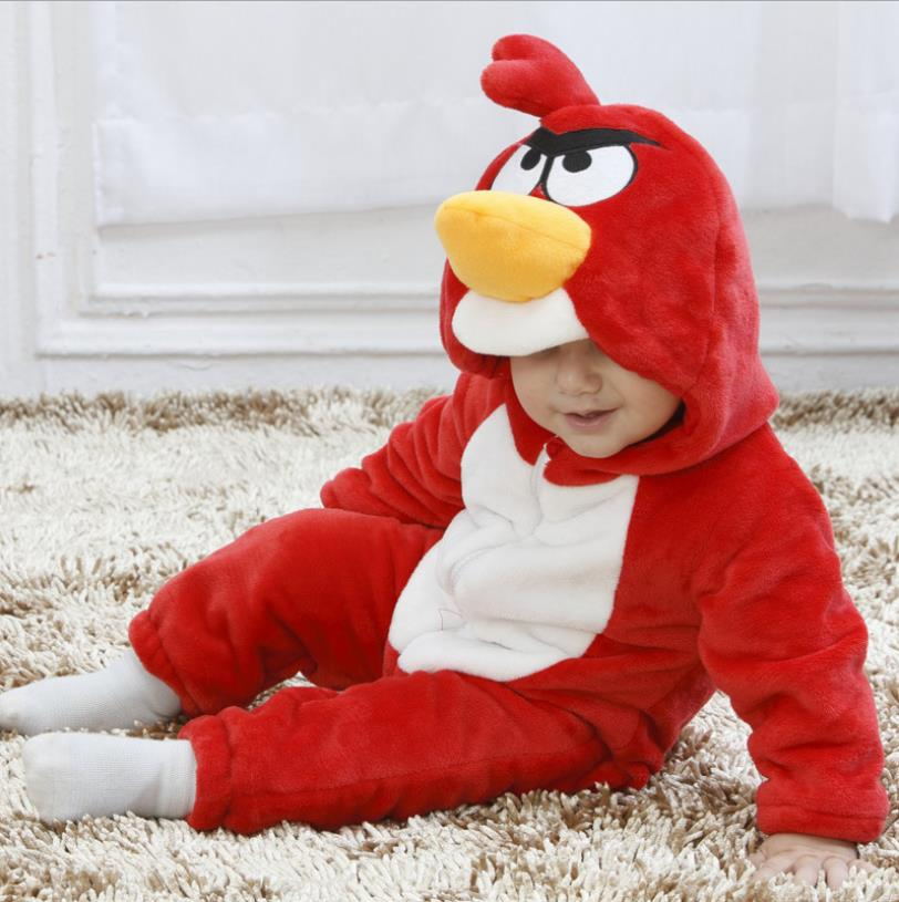 Mother & Kids Rompers Toddler Unisex-baby Spring Autumn Thin Jumpsuit Christmas Rompers Onesis Baby Girl And Boys Outfits Suit Red Angry Bird Ws29