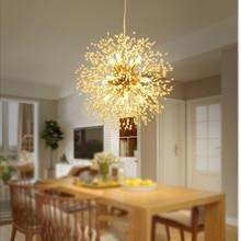 JAXLONG Nordic Pendant Lamp Dandelion Decor Restaurant Lights Living Room Bedroom Warm Light  LED Lighting lustre