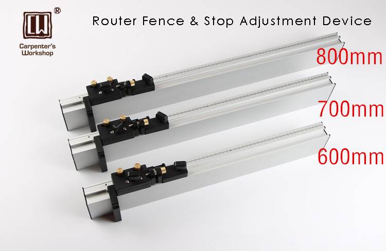 Heavy Duty Router Fence With Stops & Adjustment Device