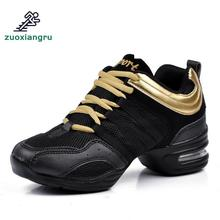 New Soft Outsole Breath Dance Shoes Women Sports Feature Sneakers Jazz Hip Hop Female Dancing Shoe Ladies Modern