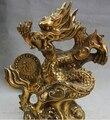 """0 9 """"Chinesische Feng Shui Messing Tierkreis jahr Drachen Erfolg Fu Reichtum Statue Skulptur-in Statuen & Skulpturen aus Heim und Garten bei"""