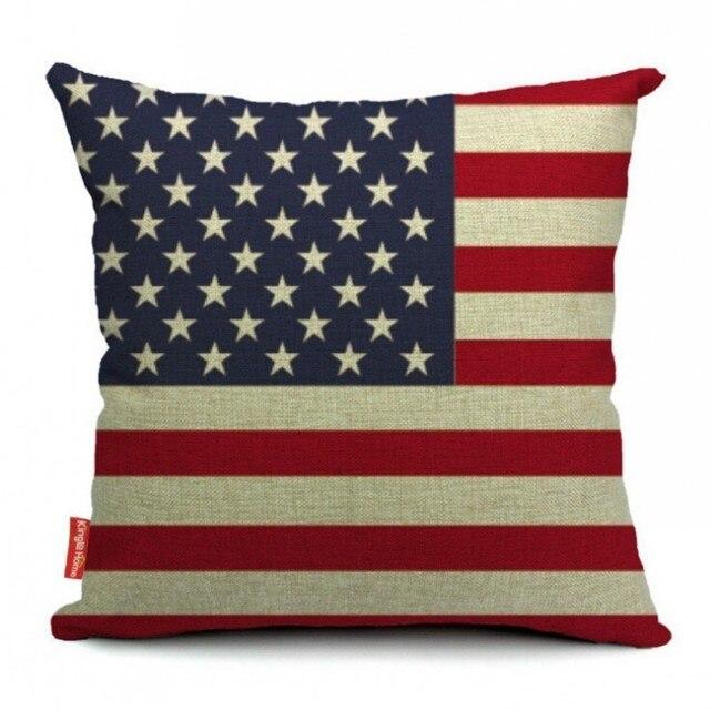 USA UK Australia Spain World Flag Cushion Covers For Car Cotton