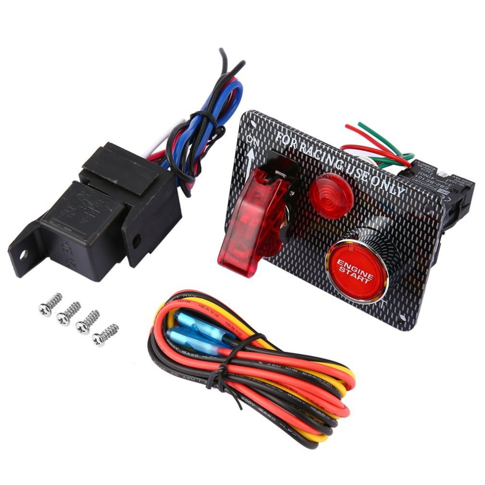 DC12V-24V Car SUV Engine Start Push Button Cover Toggle Switch Panel