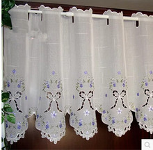 Half curtain gauze curtain embroidery cloth curtain c kitchen products garden Windows partition coffee curtain