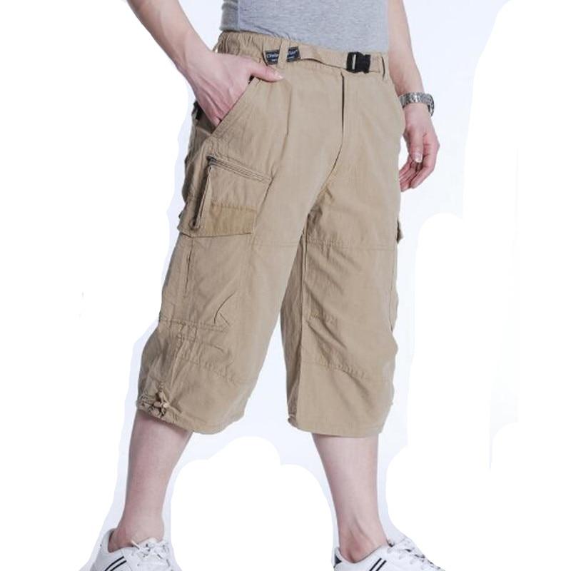 Ropa De Hombre Pantalon Corto Para Hombre Largo 3 4 Pantalones De Entrenamiento Pantalones Tres Cuartos Pantalon En Negro Azul Cefa Com Ar