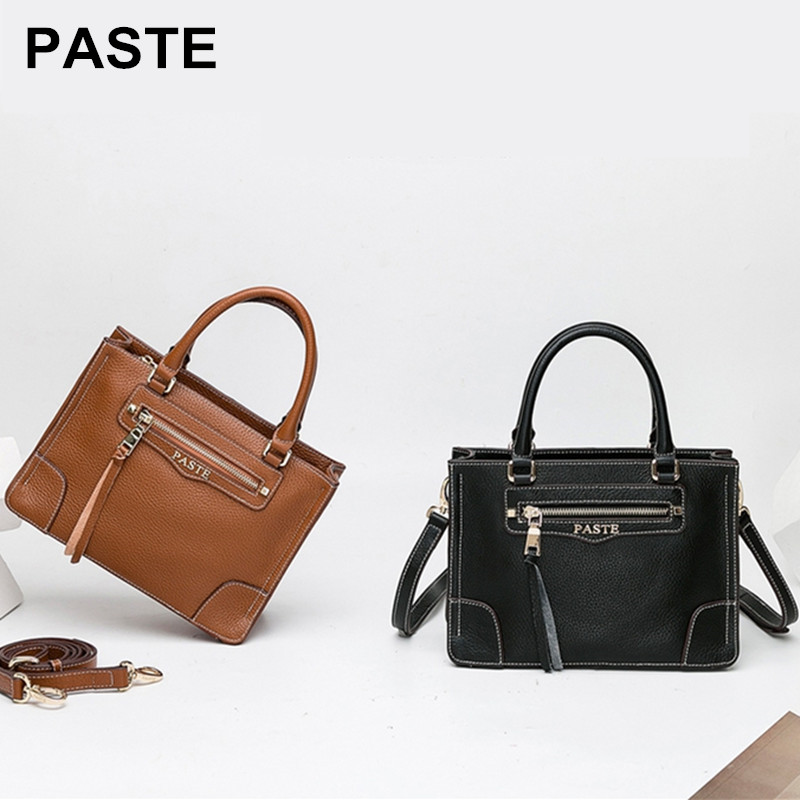Genuine Leather Women's Messenger Bags First Layer Of Cowhide Crossbody Bags large capacity Shoulder Bag tote piel verdad bolso fashion women bags 100% first layer of cowhide genuine leather women bag messenger crossbody shoulder handbags tote high quality