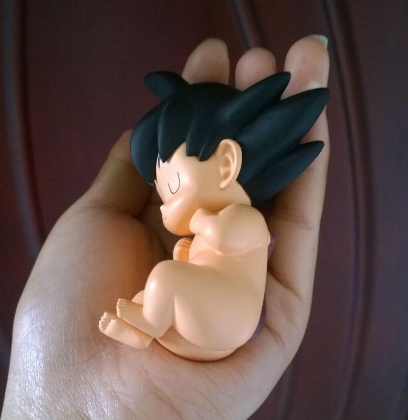8 см Dragon Ball Z DragonBall Сон Гоку фигурку игрушки милый ребенок голый Гоку модель Dragon Ball игрушка J01