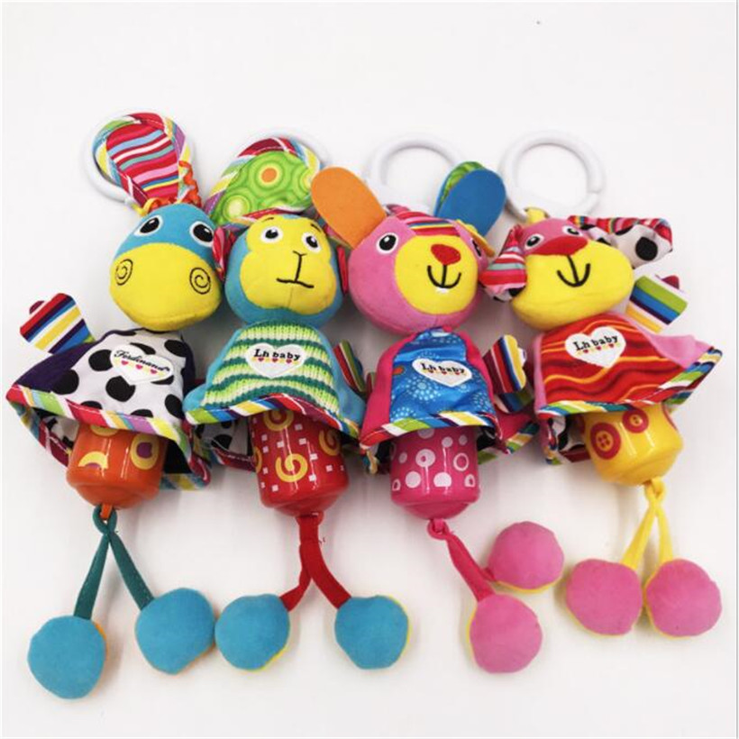 20 cm baby rattle neonatal baby mobile bed bell with BB monkey plush toys bed hanging baby toys educational toys 0-12 months