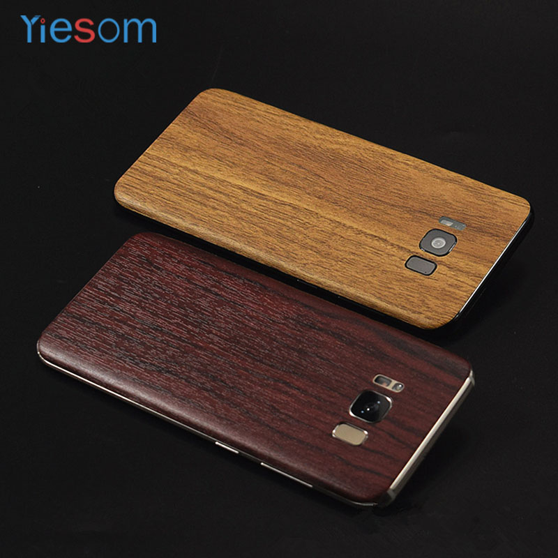 YIESOM For Samsung Galaxy S8Plus Wood Grain Skins Wrap Skin Back Paste Sticker for Samsung Galaxy S 8 / S8 Plus Protective Film wood