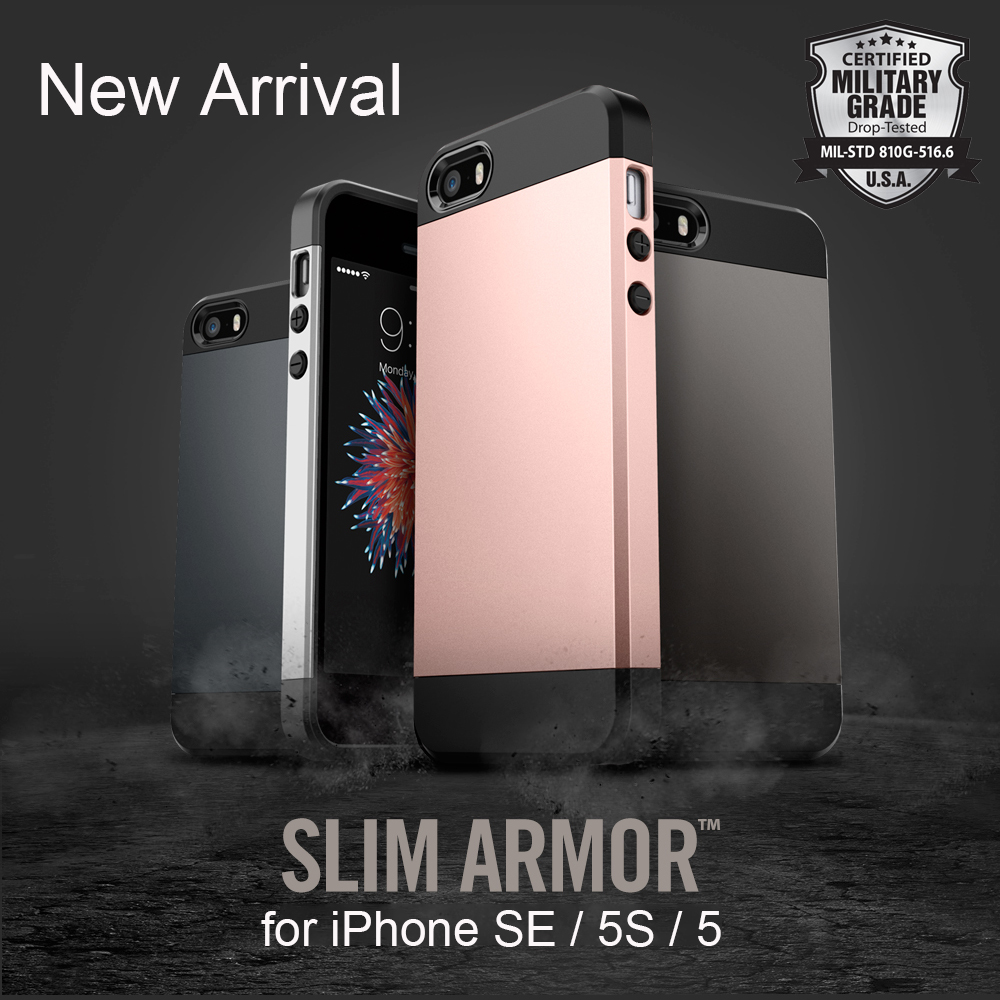 Aliantech Slim Armor Case for iPhone SE / iPhone 5S / iPhone 5 Dual Layered Military Grade Protective Phone Cases