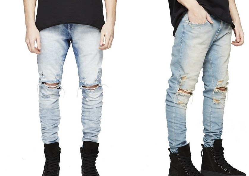 Popular Distressed Jeans Black-Buy Cheap Distressed Jeans Black