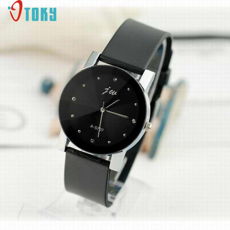 Excellent Quality Leather Women Watches Fashion Design Unisex Women Quartz Analog Wrist Watch Relojes Relogio Feminino Mar 24