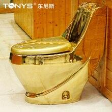250mm pit spacing gold toilet water anti-odor antibiotic gold toilet bathroom one piece ceramic closestool siphon type stinkpot