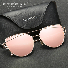 EZREAL New Women 5 Color Luxury Cat Eye HD polarized Sunglasses Women Sunglasses Double-Deck Alloy Frame UV400
