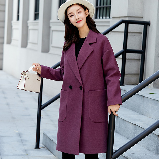 57d4d2c5f8c Women Coat Autumn Coats Jackets Warm Padded Wool Blends High Quality Long  Coat Manteau Femme Casaco Feminino Plus size XXL