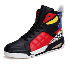 Winter Men Skateboarding Boots PU Leather Street Basketball Shoes Woman High Top Sneakers Lovers Outdoor Sport Athletic Footwear