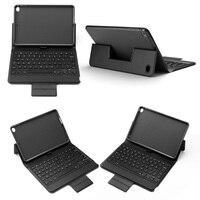 mini wireless bluetooth 4.0 Bluetooth Wireless Keyboard Case for iPad Mini 5/iPad mini 4, Premium PU Leather Folio Flip Cover with 7 color blacklight (5)