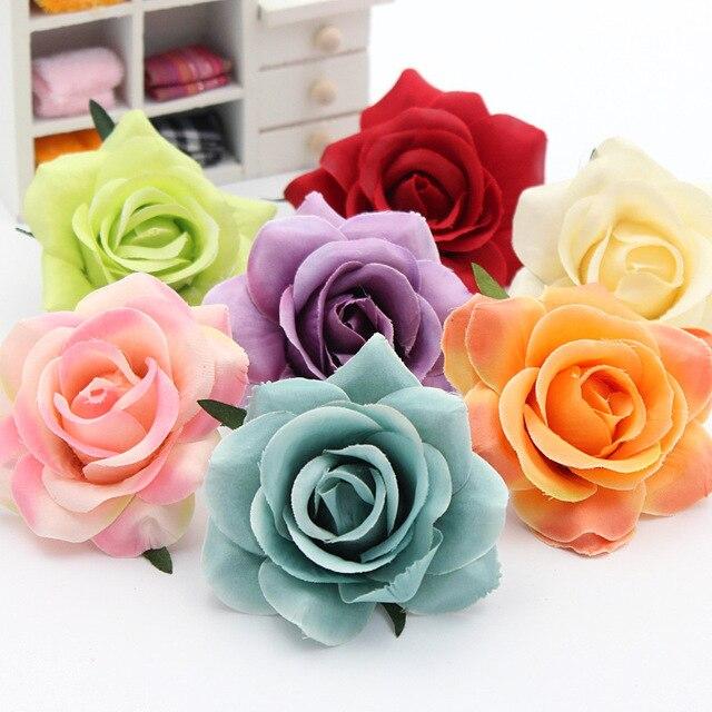 2 Pcs Indah Sutra Bunga Rose Bunga Pernikahan Rumah Perabotan